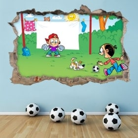 Autocollants 3D football pour enfants