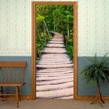 Vinyle décoratives portes dans la nature