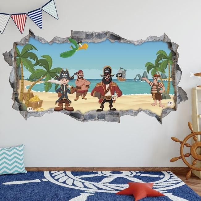 Autocollants 3D Pirates des Caraïbes