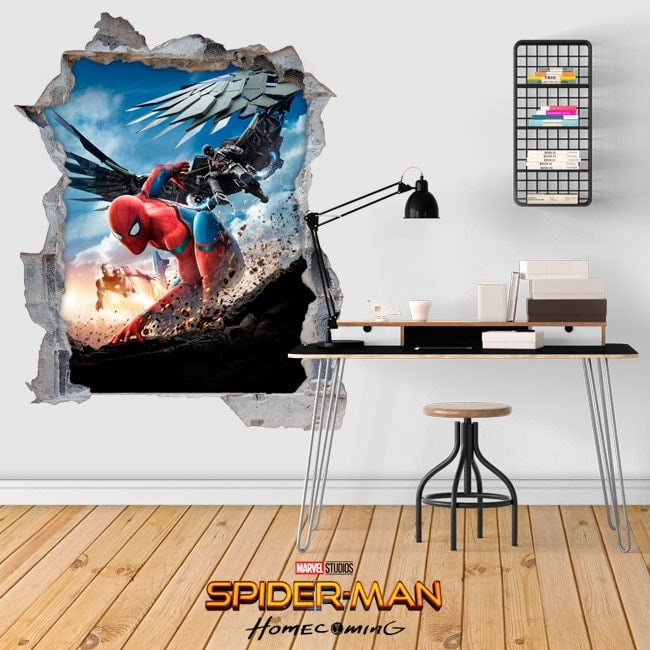 Autocollants en 3D spiderman homecoming