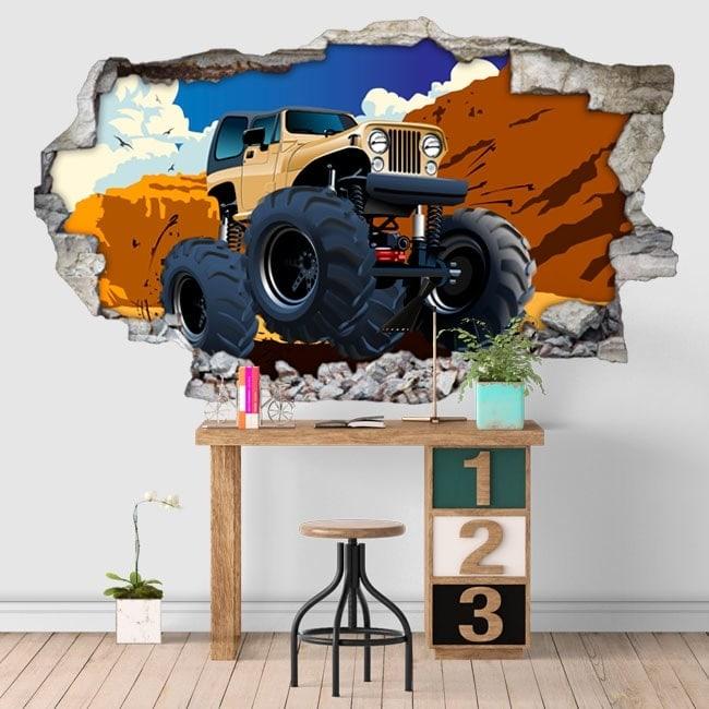 Vinyle adhésif monster truck 3D
