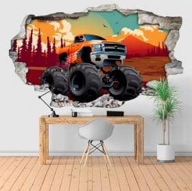 Vinyls et autocollants 3D monster truck