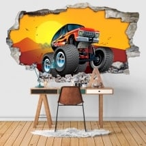 Autocollants 3D Bigfoot
