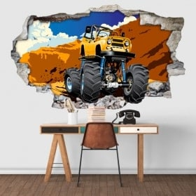 stickers muraux monster truck 3D