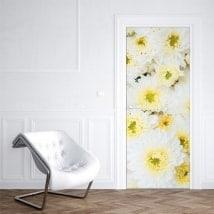 Stickers fleurs pour portes