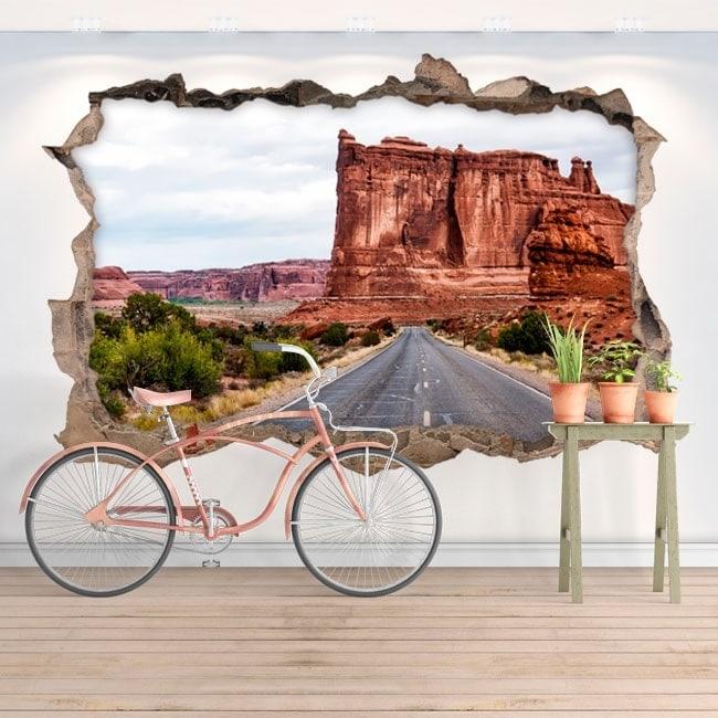 Autocollants muraux 3D parc national des arches