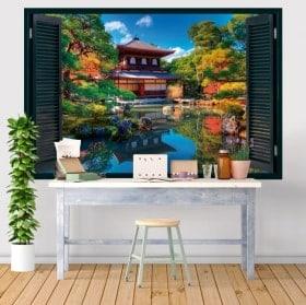 Fenêtres autocollants 3D Ginkakuji Kyoto Japon