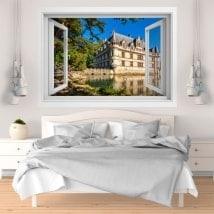 Fenêtre en vinyle 3D Château d'Azay-le-rideau France