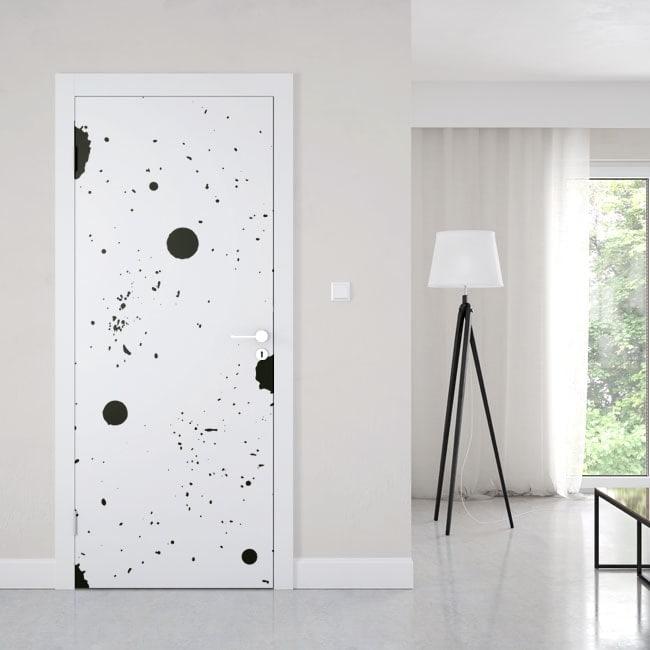 vinyle de porte peinture claboussure. Black Bedroom Furniture Sets. Home Design Ideas