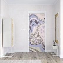 Portes de décoration en vinyle couleurs de marbre