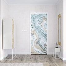 Vinyle pour portes couleurs de marbre