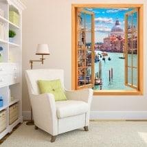 Fenêtres en vinyle 3D Venise