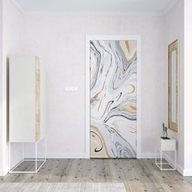 Vinyle décoratif pour portes marbre