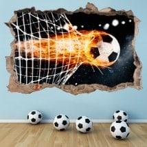 Autocollants de décoration de but en football 3D