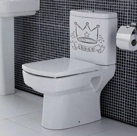 Vinyle pour salles de bains le fauteuil du roi