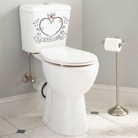 Vinyle pour toilettes et salles de bains Le fauteuil de la reine