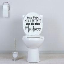 Vinyles pour toilettes et murs phrase de pisse heureuse