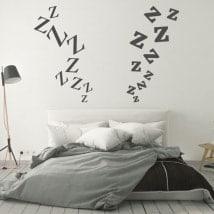 Autocollants têtes de lit lettres zeta
