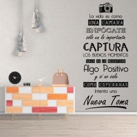 Stickers muraux la vie est comme une caméra