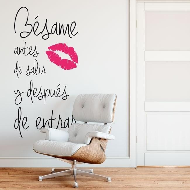 Stickers muraux embrasse-moi avant de sortir