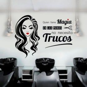 Vinyles salons de beauté et coiffeurs qui a la magie