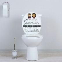 Vinyles pour salles de bains et toilettes superhéros
