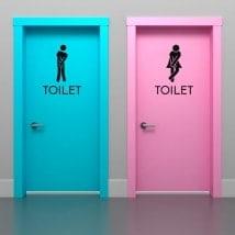 Vinyle signalétique pour salles de bains et toilettes