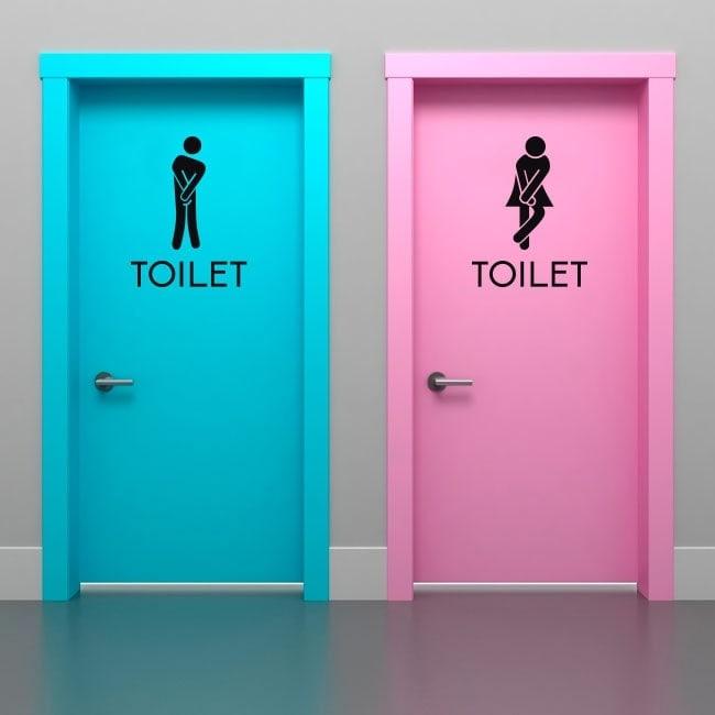 Vinyle signal tique pour salles de bains et toilettes - Vinyle salle de bain ...