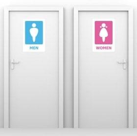 Vinyle décoratif signalisation toilettes