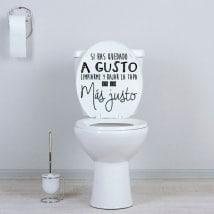 Vinyles pour salles de bains et toilettes si vous êtes à l'aise