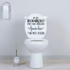 Vinyle pour salles de bains et toilettes vous n'êtes pas pompier