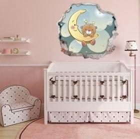 Vinyle pour enfants ours doux rêves 3D