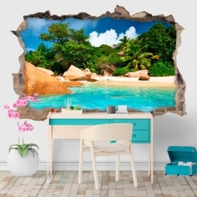 Vinyle décoratifs île tropicale 3D