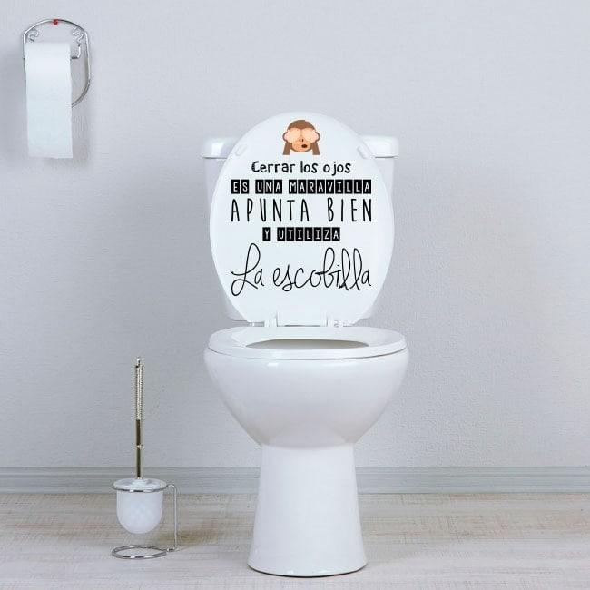 Autocollants wc salles de bains viser bien - Autocollant salle de bain ...