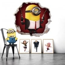 Stickers muraux minion hitman 3D