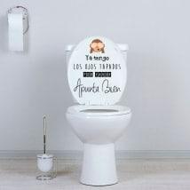 Vinyle salle de bain WC viser bien