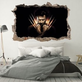 Stickers muraux X-Men Origins Wolverine 3D