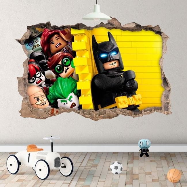 Vinyle pour enfants Batman lego 3D