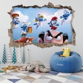Vinyls et autocollants Smurfs 3D