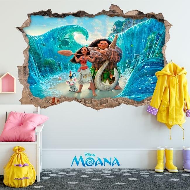 Vinyle pour enfants Disney Vaiana 3D