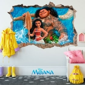 Stickers muraux Disney Vaiana 3D