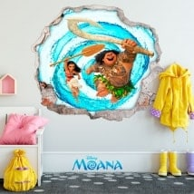 Stickers muraux 3D Disney Vaiana