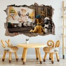 Stickers muraux Shaun mouton 3D