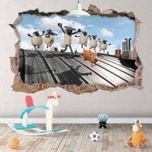 Fonds d'écran Shaun mouton 3D