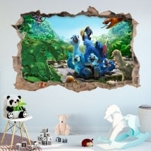 Stickers muraux 3D rivière 2