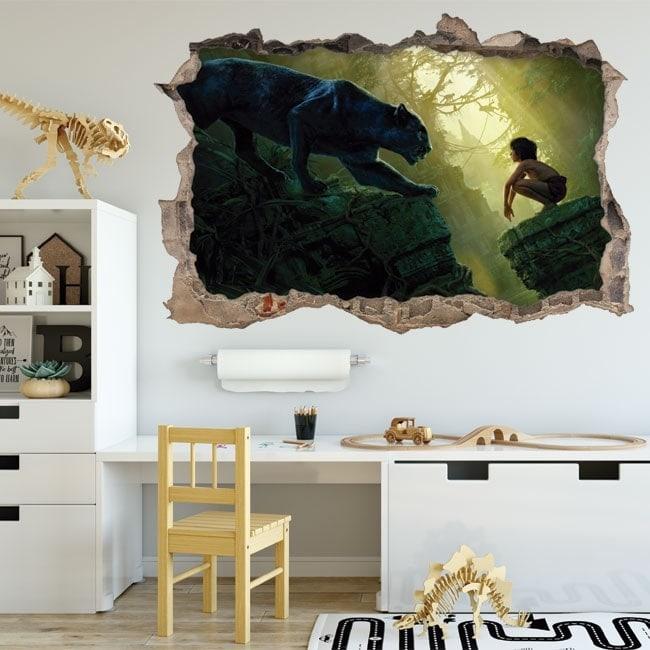 Vinyle pour enfants le livre de la jungle 3D