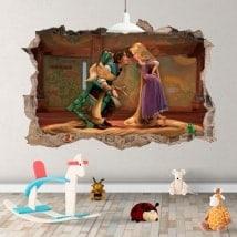 Vinyle pour enfants Tangled Raiponce Disney 3D