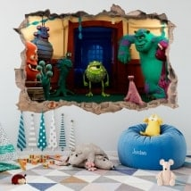 Vinyle pour enfants université monsters 3D