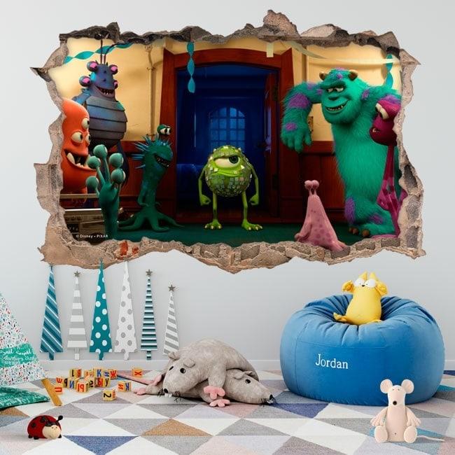 Vinyle pour enfants université monsters 3D