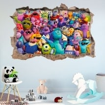 Stickers muraux monster university 3D